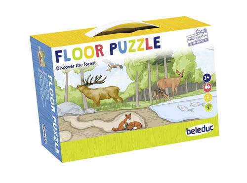 Dřevěné puzzle Les