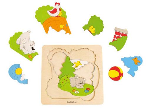Malý objevitel - puzzle Zahrada