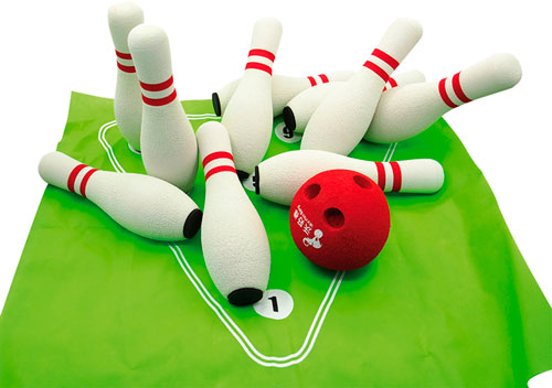 Bowling soft 10 kuželek a 2 koule
