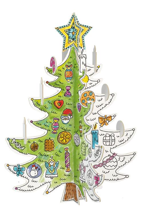 Vánoční stromek k vymalování