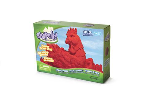 Modelovací písek Shape it! 2,3kg červený
