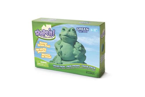 Modelovací písek Shape it! 2,3kg zelený