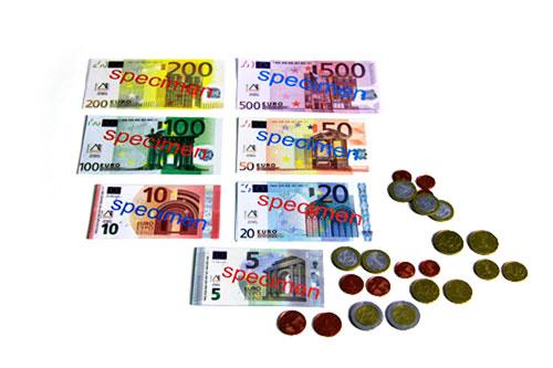 Euro-sada peněz na výuku